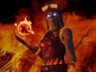 Renegade Flame Blaze Fortnite Art wallpaper