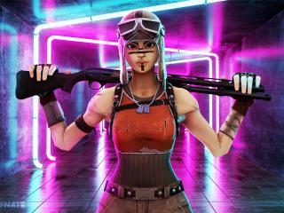 Renegade Raider Fortnite with Sniper wallpaper