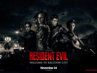 Resident Evil Welcome To Raccoon City Movie 2021 wallpaper