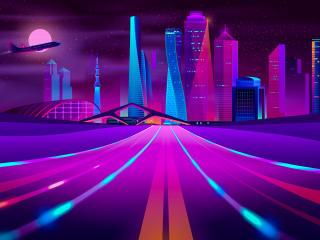 Retro City Ultra HD 5K wallpaper