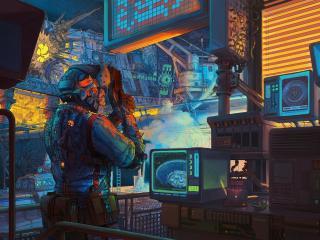 Retro Lab Scifi Artwork wallpaper
