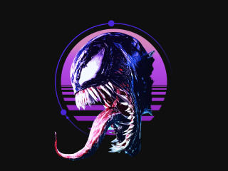 Retro Venom Art wallpaper