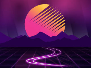 Retrowave Sunset wallpaper