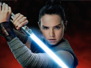 Rey Aka Daisy Ridley In Star Wars The Last Jedi wallpaper