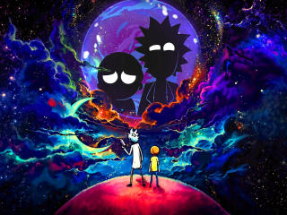 Rick and Morty in Outer Space wallpaper