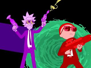 Rick and Morty Run The Jewels Art wallpaper