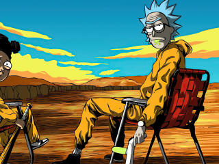 Rick & Morty X Breaking Bad wallpaper