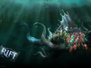 rift, monster, underwater wallpaper