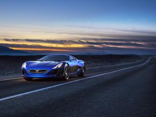 rimac, electric car, concept wallpaper