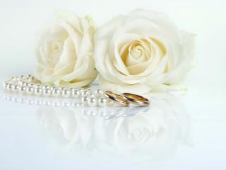 ring, rose, beads wallpaper