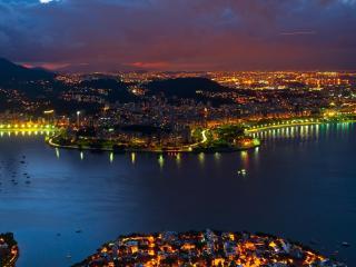 Rio De Janeiro Nightscape wallpaper