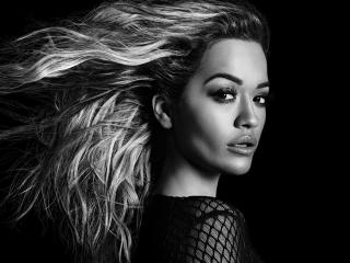 Rita Ora Monochrome wallpaper