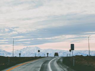 road, car, turn wallpaper