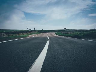 road, marking, sky wallpaper