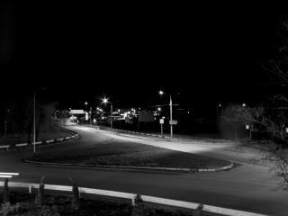 road, night, lights wallpaper