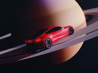 Roadster 2021 in Space wallpaper