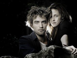 Robert Pattinson With Kristen Stewart wallpaper