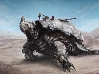 robot, machine, turtle wallpaper