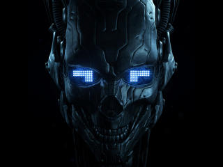 Robot Skull wallpaper