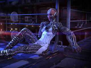 Robot Woman Cyberpunk wallpaper