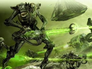 robots, creatures, weapons wallpaper