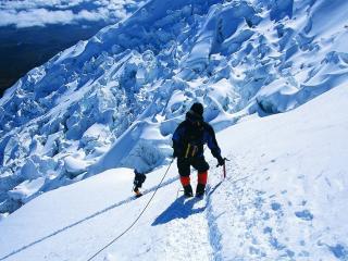 rock climber, snow, mountains wallpaper