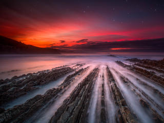 Rock Formation on Coast of Spain 4K wallpaper