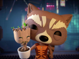 Rocket And Baby Groot Bait and Switch wallpaper
