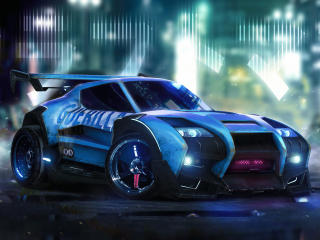Rocket League Car Artwork wallpaper