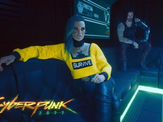 Rogue and Johnny Silverhand Cyberpunk 2077 wallpaper