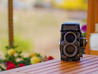 rolleiflex, table, camera wallpaper