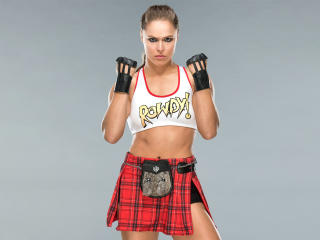 Ronda Rousey In WWE Ring Gear wallpaper