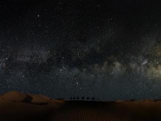 Sahara Desert in Scenery Night wallpaper
