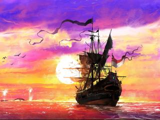 Sailing Ship Art wallpaper