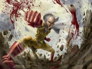 Saitama Cool One Punch Man wallpaper