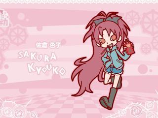 sakura kyouko, anime, posture wallpaper