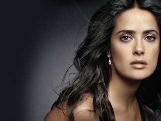 salma hayek, girl, face wallpaper