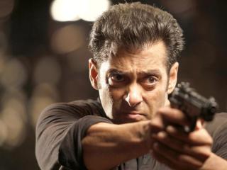 Salman Khan with gun wallpaper