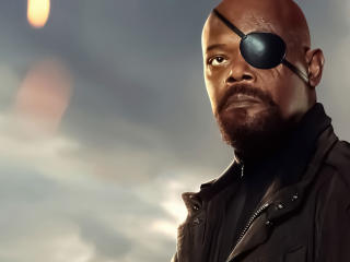 Samuel L. Jackson in Spiderman Far From Home wallpaper