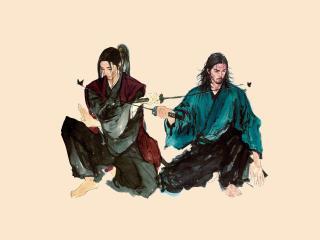 Samurai Miyamoto Musashi Sasaki Kojirou wallpaper
