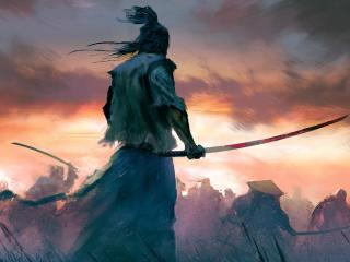 Samurai Warrior 4K Cool Digital Art wallpaper