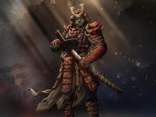 HD Wallpaper | Background Image Samurai Warrior Art