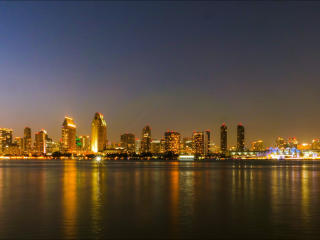 San Diego Building Nightscape wallpaper