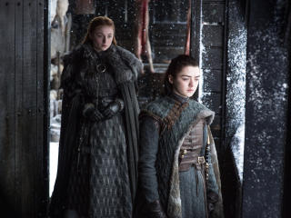 Sansa And Arya Stark Game Of Thrones Season 7 wallpaper
