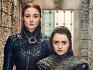 Sansa Stark and Arya Stark Game Of Thrones 8 wallpaper