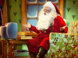santa claus, astonishment, armchair wallpaper