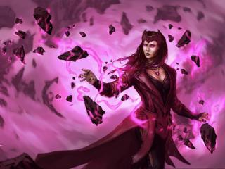 Scarlet Witch Marvel Cool Art wallpaper
