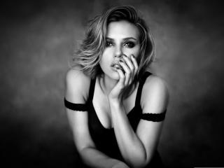 Scarlett Johansson black and white wallpaper wallpaper