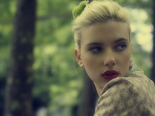 scarlett johansson, face, lipstick wallpaper