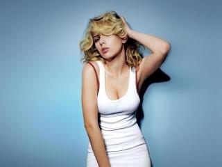 Scarlett Johansson Hot White dress wallpaper wallpaper